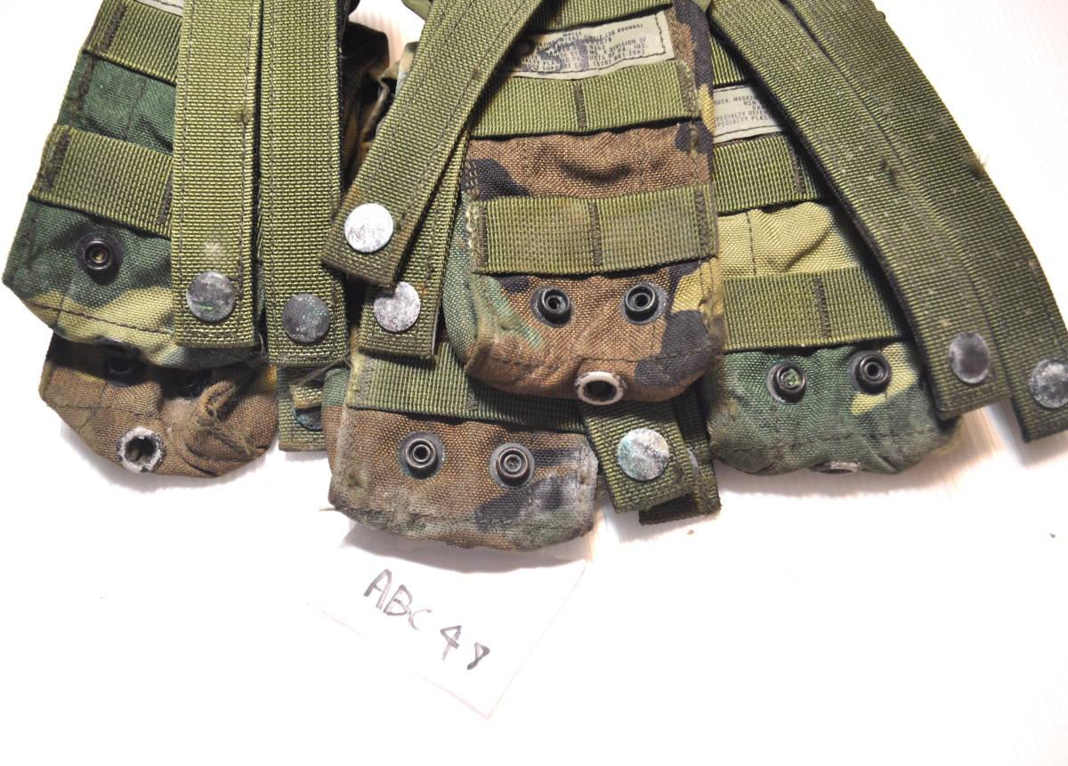 米軍放出品 実物 USMC 米海兵隊 US ARMY ウッドランド 迷彩 M4 M16 5.56mm 30連 シングルマガジンポーチセット FSBE RECON_画像5