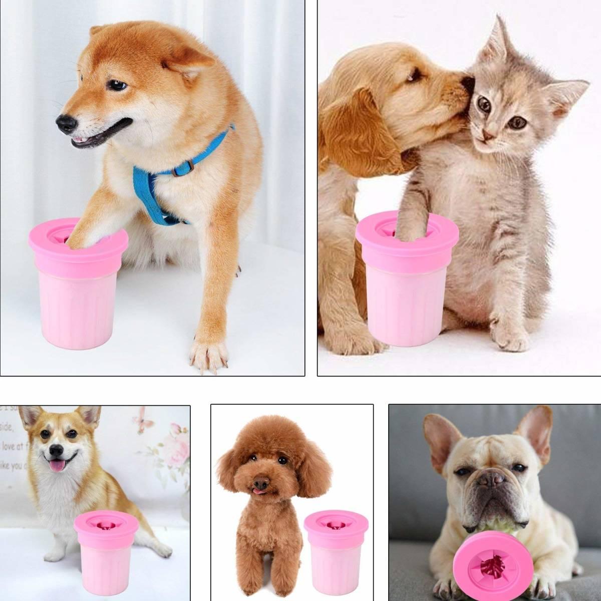 室内犬いぬ犬イヌ足洗いブラシカップ猫ペットドアuserに足用クリーナー清浄力3倍愛犬のお散歩帰り足洗いS-M小型/中型犬用 足の裏シャンプー_画像7