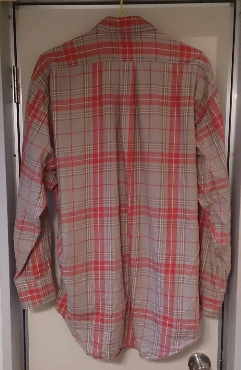 90s CHAPS RALPH LAUREN チャップス ラルフ・ローレン カジュアルシャツ 長袖 ボタンダウン チェック柄 L・実測身幅約62cm※USED/1997年品_渋い色味がいい感じです