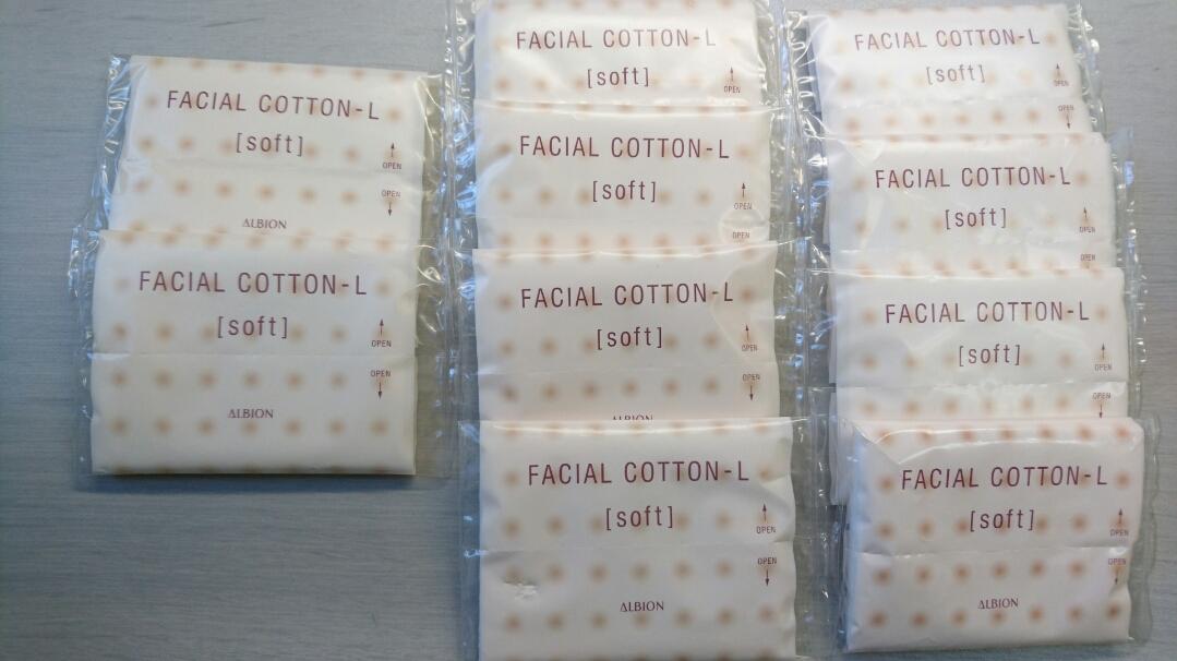 アルビオン フェイシャル コットン L ソフト 2枚入X10個 個別包装 化粧専用・綿100% 複数OK 非売品