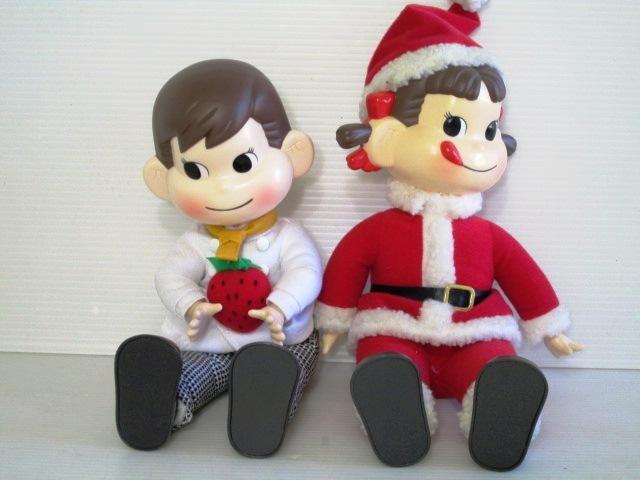 【かわいい!】 ★ 不二家 ★ おすわりペコちゃん & ポコちゃん クリスマス サンタペコ/チェフポコ