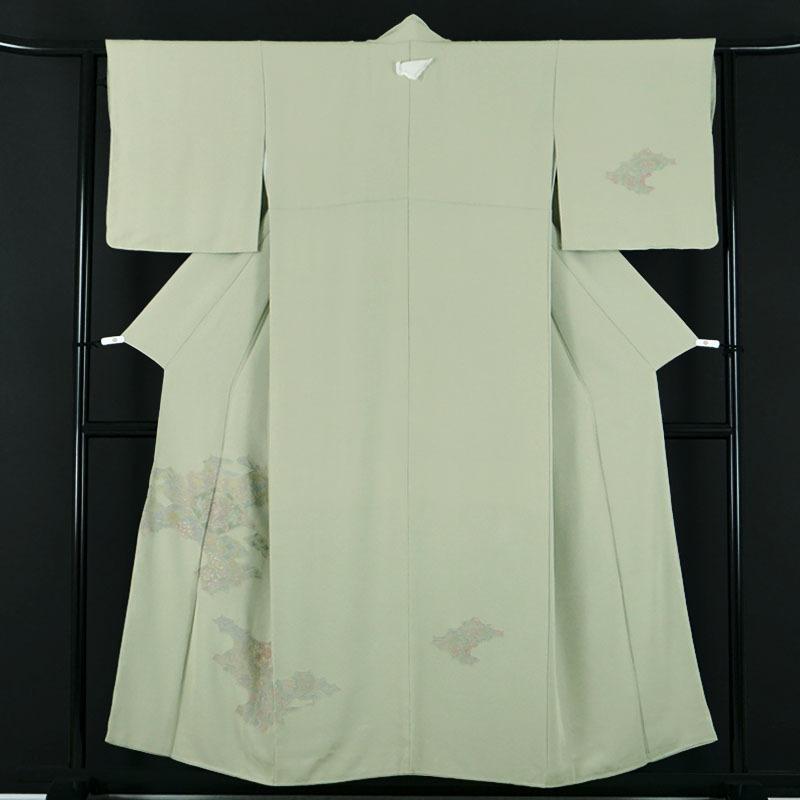 お茶席向け 仙頭風の刺繍 正絹付下げ訪問着 美品 ・A452_画像1