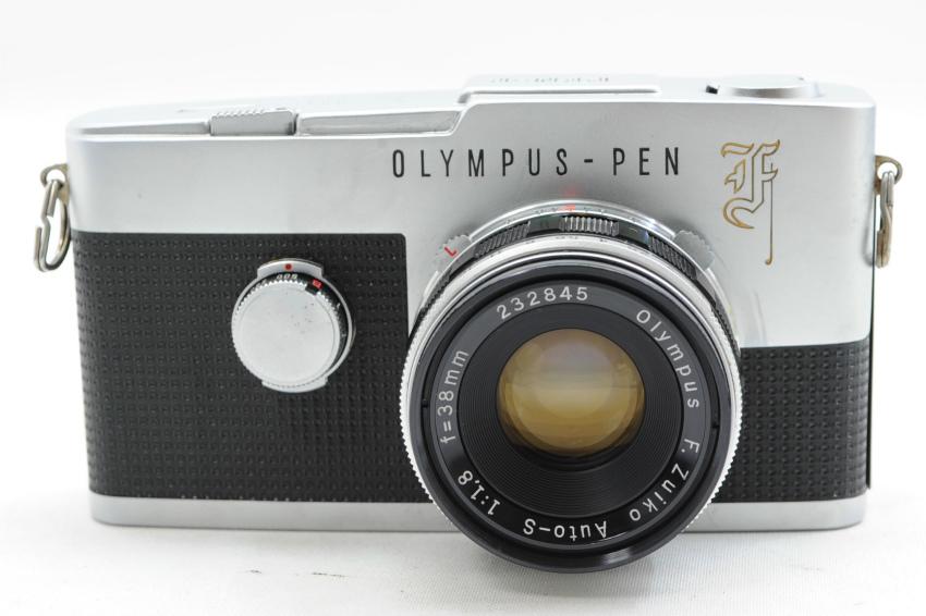 【ecoま】オリンパス OLYMPUS PEN-F 38mmレンズ付き ジャンク ハーフサイズ フィルムカメラ