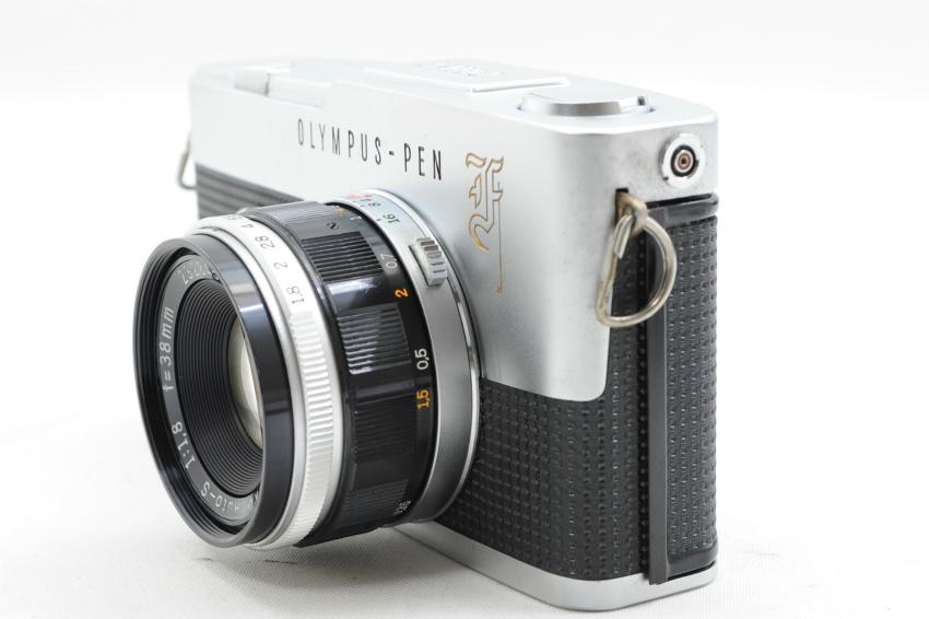 【ecoま】オリンパス OLYMPUS PEN-F 38mmレンズ付き ジャンク ハーフサイズ フィルムカメラ_画像2