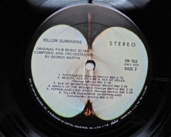 Appleレコード The BEATLES『YELLOW SUBMARINE』US盤 SW 153 初盤美品_画像6