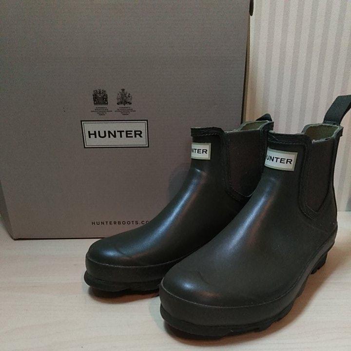 新品 希少 HUNTER メンズ サイドゴア チェルシーブーツ NORRIS CHELSEA US9 UK8 EU42 27cm ダークオリーブ 長靴 ハンター ミリタリー