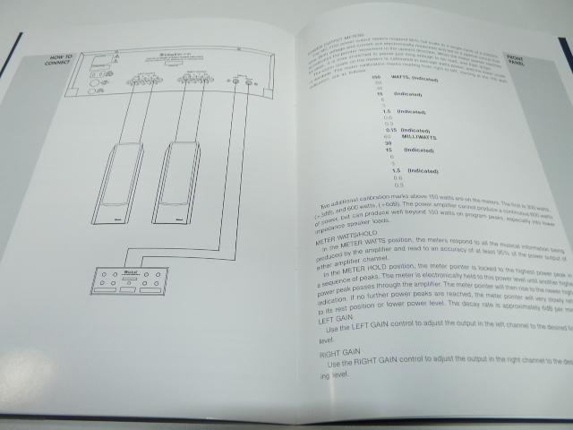 ●マッキントッシュ McIntosh MC7150 POWER AMPLIFIER 取扱説明書 マニュアル_画像4