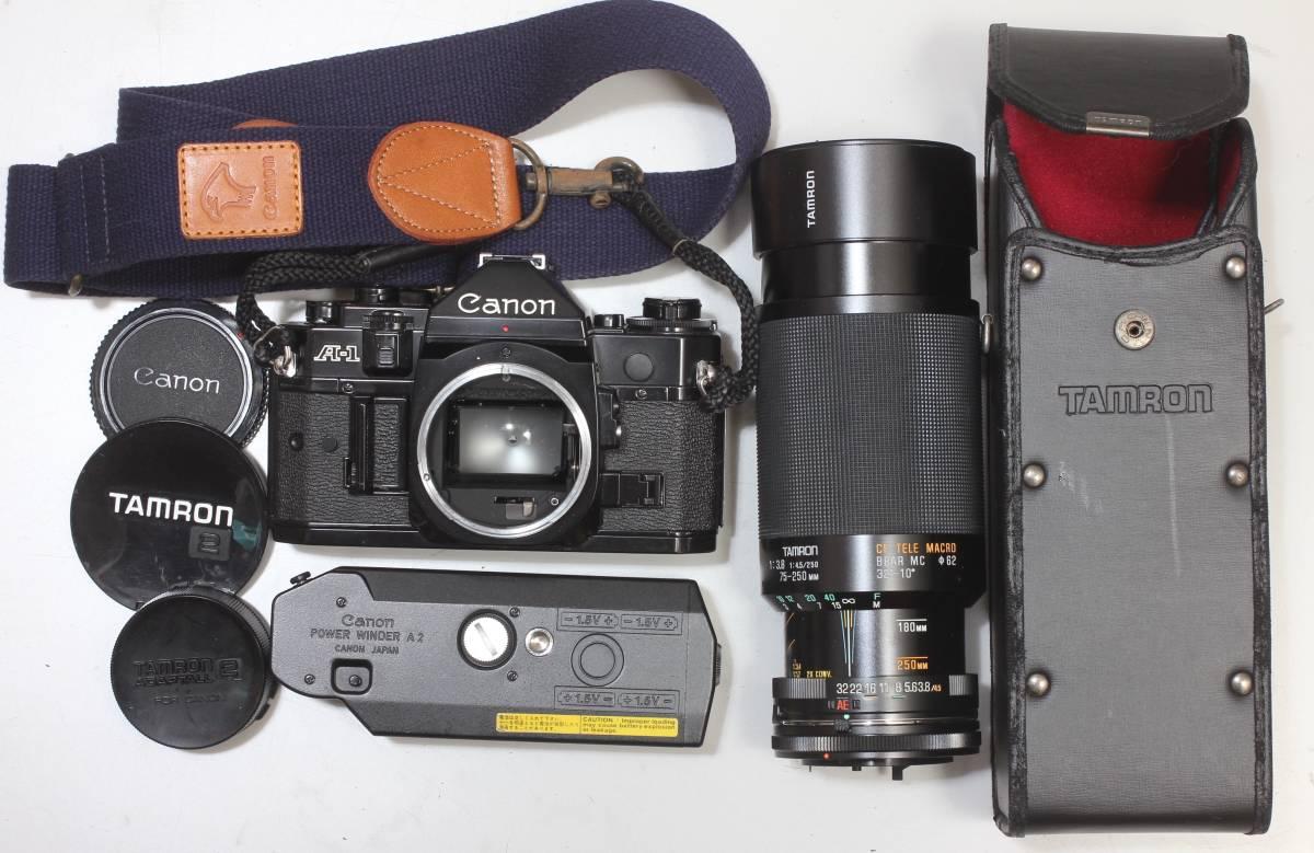 CanonA-1、レンズ、POWER WINDER A2 3 点おまとめ!16341二