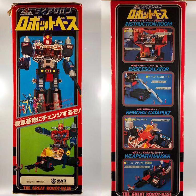タカラ ダイアクロン ロボットベース カタログ 隊員付 当時物 昭和 ロボット メカ Diaclone TAKARA TheGreatRobotBase 希少_画像4