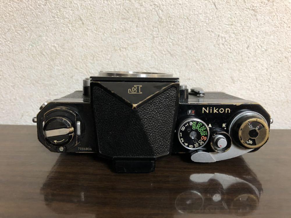 希少 ブラック Nikon F NIKKOR-H・C Auto 28mm f3.5 アイレベルファインダー ニコンF 黒 ニッコール 単焦点レンズ セット 現状品_画像7