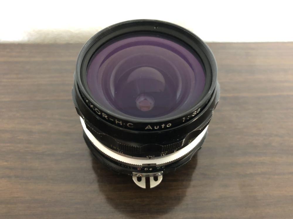希少 ブラック Nikon F NIKKOR-H・C Auto 28mm f3.5 アイレベルファインダー ニコンF 黒 ニッコール 単焦点レンズ セット 現状品_画像9