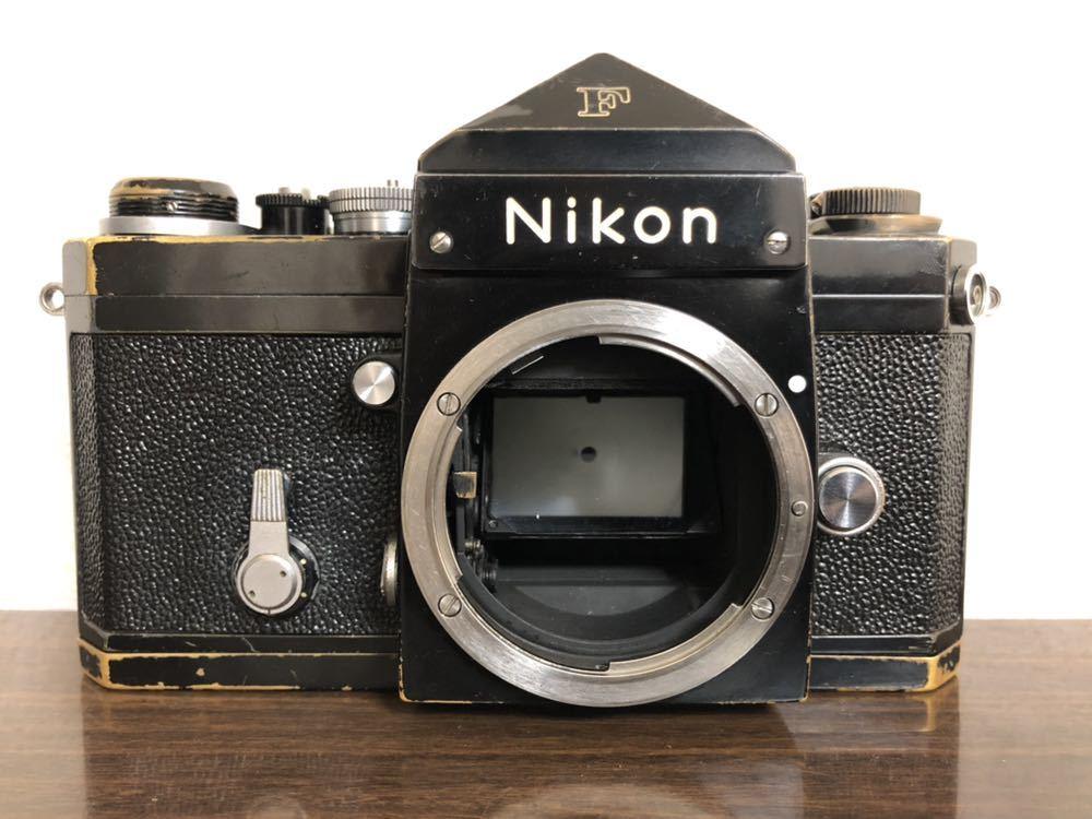 希少 ブラック Nikon F NIKKOR-H・C Auto 28mm f3.5 アイレベルファインダー ニコンF 黒 ニッコール 単焦点レンズ セット 現状品_画像4
