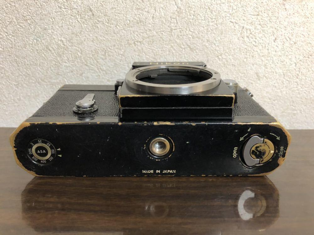 希少 ブラック Nikon F NIKKOR-H・C Auto 28mm f3.5 アイレベルファインダー ニコンF 黒 ニッコール 単焦点レンズ セット 現状品_画像6
