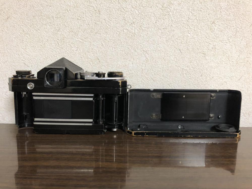 希少 ブラック Nikon F NIKKOR-H・C Auto 28mm f3.5 アイレベルファインダー ニコンF 黒 ニッコール 単焦点レンズ セット 現状品_画像8
