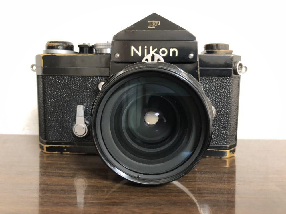 希少 ブラック Nikon F NIKKOR-H・C Auto 28mm f3.5 アイレベルファインダー ニコンF 黒 ニッコール 単焦点レンズ セット 現状品