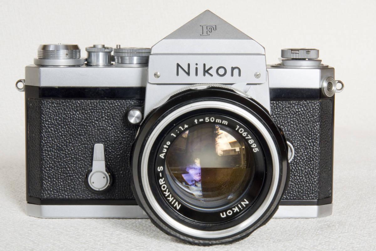 ニコンF アイレベル シルバー 719万番台 Nikkor-S Auto 50mm F1:1.4 正常動作確認品_画像3