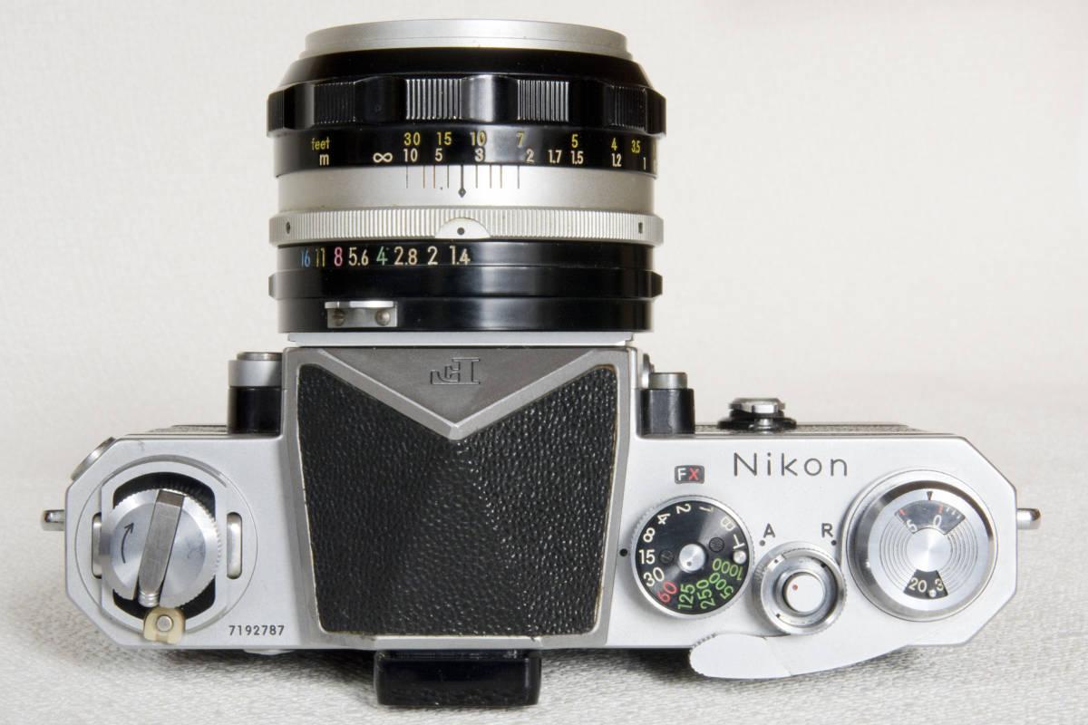 ニコンF アイレベル シルバー 719万番台 Nikkor-S Auto 50mm F1:1.4 正常動作確認品_画像4