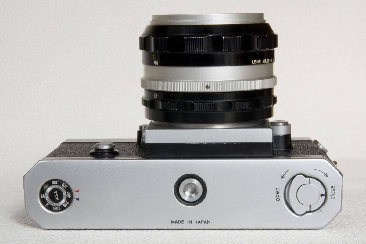 ニコンF アイレベル シルバー 719万番台 Nikkor-S Auto 50mm F1:1.4 正常動作確認品_画像7