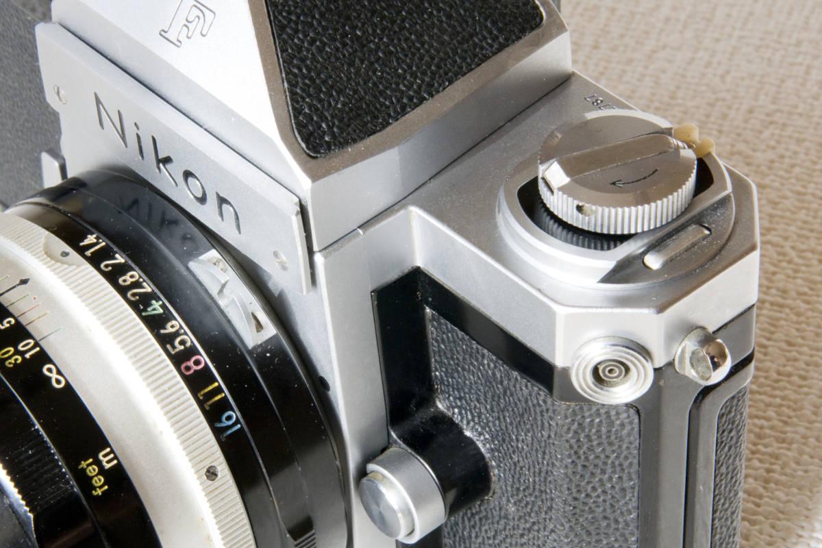 ニコンF アイレベル シルバー 719万番台 Nikkor-S Auto 50mm F1:1.4 正常動作確認品_画像9