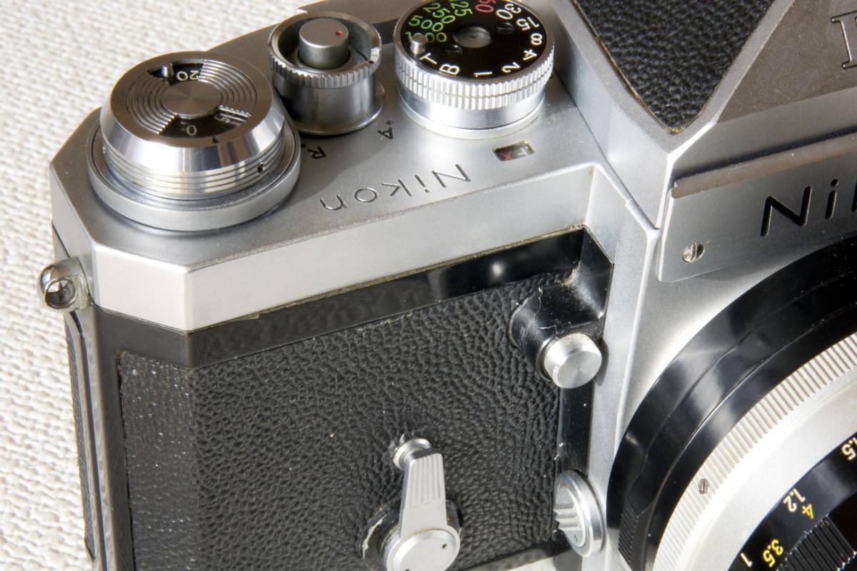 ニコンF アイレベル シルバー 719万番台 Nikkor-S Auto 50mm F1:1.4 正常動作確認品_画像10