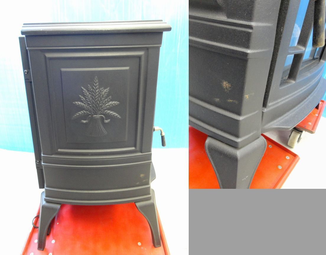 【ゆ319】Vermont Castings バーモントキャスティングス 暖炉型電気ヒーター モデルACS アメリカ製 ファンヒーター 鋳物 薪 温風 暖房_画像6