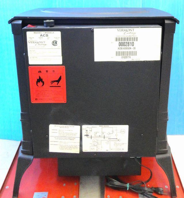 【ゆ319】Vermont Castings バーモントキャスティングス 暖炉型電気ヒーター モデルACS アメリカ製 ファンヒーター 鋳物 薪 温風 暖房_画像7