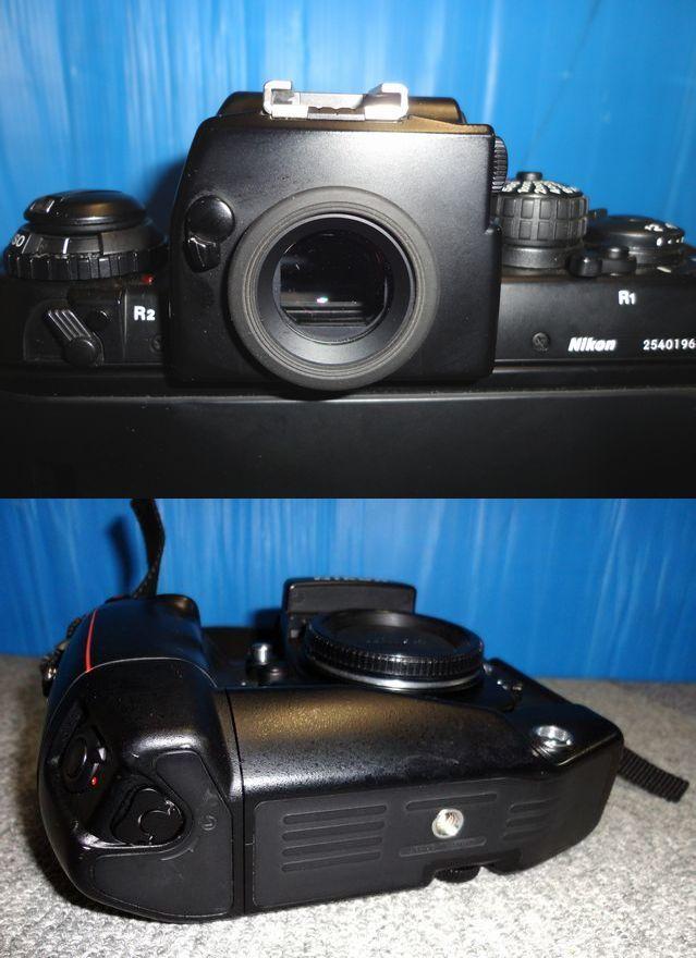 【YU340】NIKON ニコン 一眼レフカメラ F4S バッテリーパック MB-21付き ボディ 連写仕様 モダン クラシック フィルムカメラ_画像6