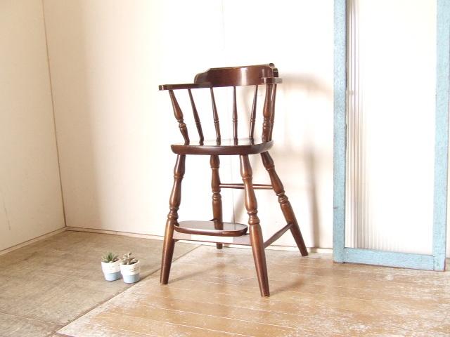 古いキツツキ飛騨ベビーアームチェア⑦チャイルド アンティーク ダイニング 子供椅子 ビンテージ家具 レトロ【沖縄・離島は発送不可】 _画像1
