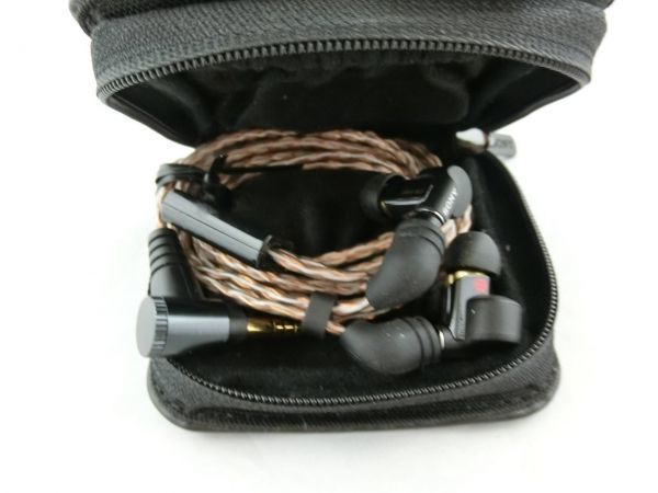 Sony XBA-N3 イヤホン ハイレゾ KIMBER KABLE MUC-M12SB1付替え 4.4mm 純正ケース付き/Y1125-1725