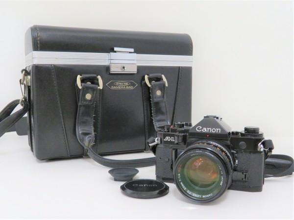 正規品 Canon キャノン 一眼レフ A-1 レンズ 50mm 1:1.4 フィルムカメラ カメラバッグ付き