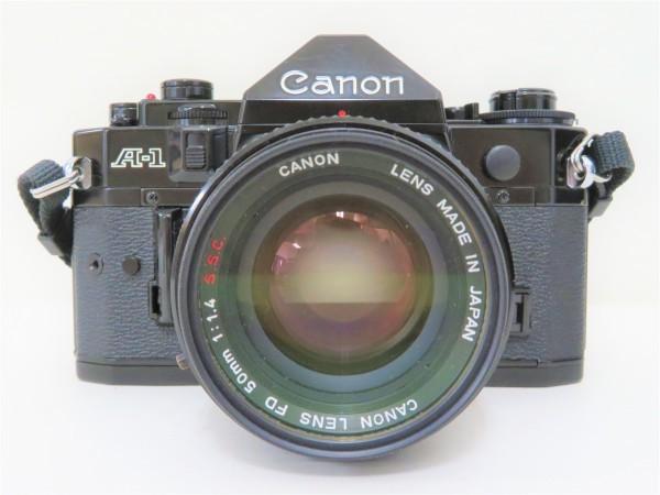 正規品 Canon キャノン 一眼レフ A-1 レンズ 50mm 1:1.4 フィルムカメラ カメラバッグ付き_画像2