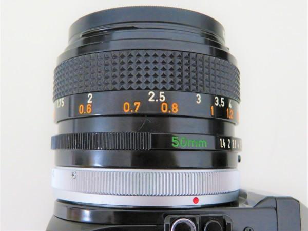 正規品 Canon キャノン 一眼レフ A-1 レンズ 50mm 1:1.4 フィルムカメラ カメラバッグ付き_画像5