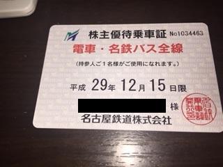 【簡易書留込】 ★最新★ 名鉄 (名古屋鉄道) 電車・バス全線株主優待乗車証 定期タ