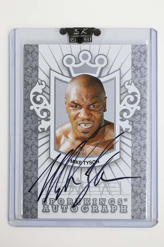 ★MIKE TYSON 2009 SPORTKINGS Autograph card マイク タイソン 直筆サインカード ボクシング★超レア