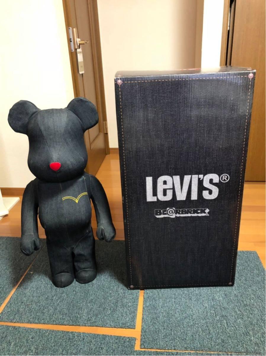 ベアブリック リーバイス levis 1000% 美品 501 メディコムトイ supreme bape