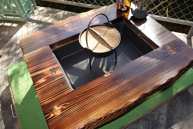 囲炉裏テーブル「E-145」  おこぜ夢工房の田舎作り一点物_画像1