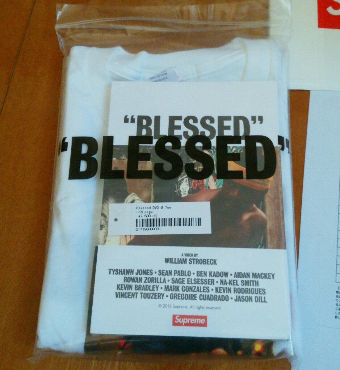 "【XLサイズ】新品未試着・国内正規品 18AW Supreme ""BLESSED"" DVD + Tee White 個人情報部分を削除した納品書コピーを同梱 ステッカー付_画像6"