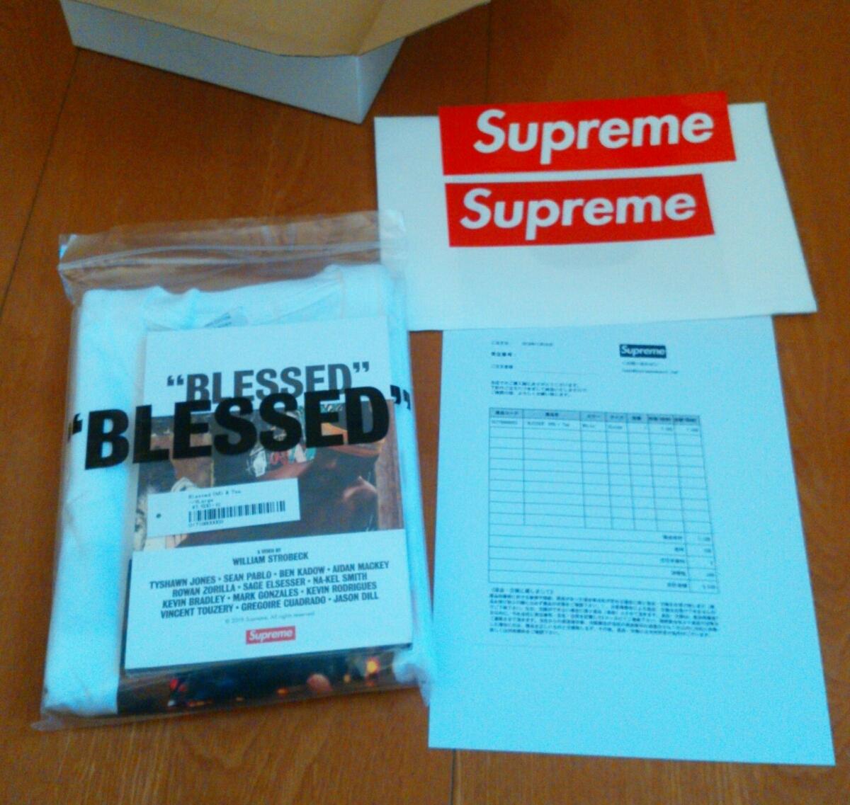 "【XLサイズ】新品未試着・国内正規品 18AW Supreme ""BLESSED"" DVD + Tee White 個人情報部分を削除した納品書コピーを同梱 ステッカー付_画像5"
