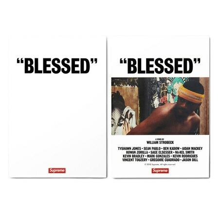 "【XLサイズ】新品未試着・国内正規品 18AW Supreme ""BLESSED"" DVD + Tee White 個人情報部分を削除した納品書コピーを同梱 ステッカー付_画像3"