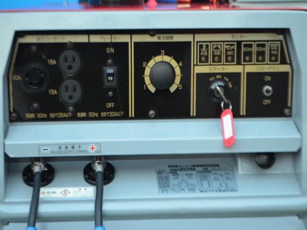 ディーゼルエンジン溶接機DGW201M。 [50メートル 溶接コード付き] 。動作確認済みです。_画像4