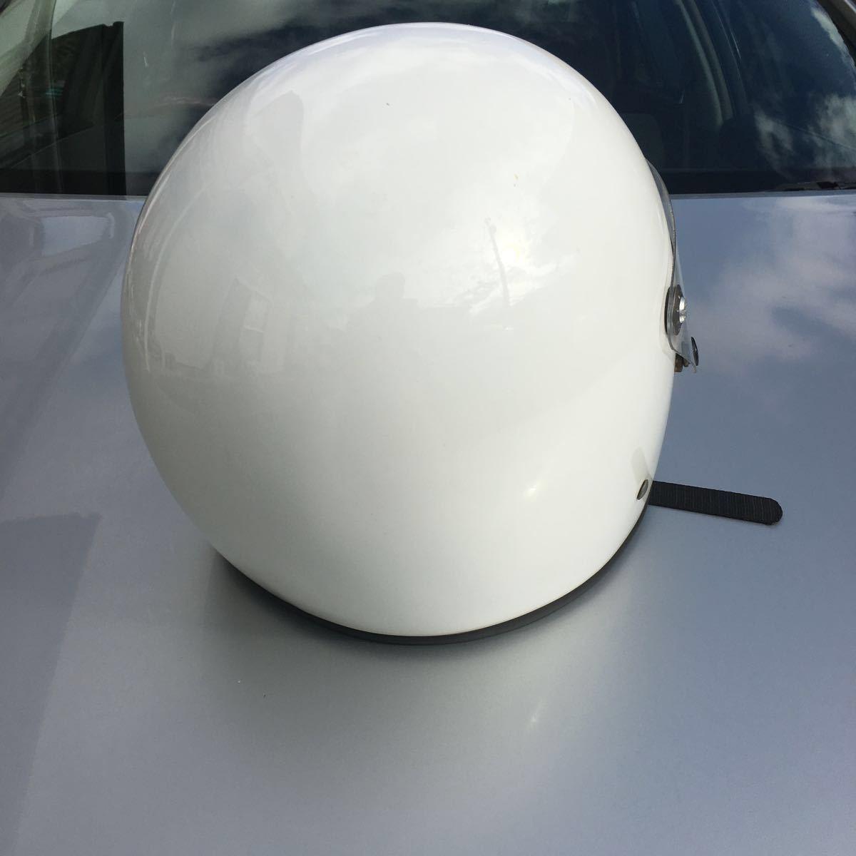 族ヘル 使用回数少 フルヘェイス ヘルメット / 初期 型 マッハ にて使用 / サイズは極端に小さく無いのでフリーサイズかな?_画像4