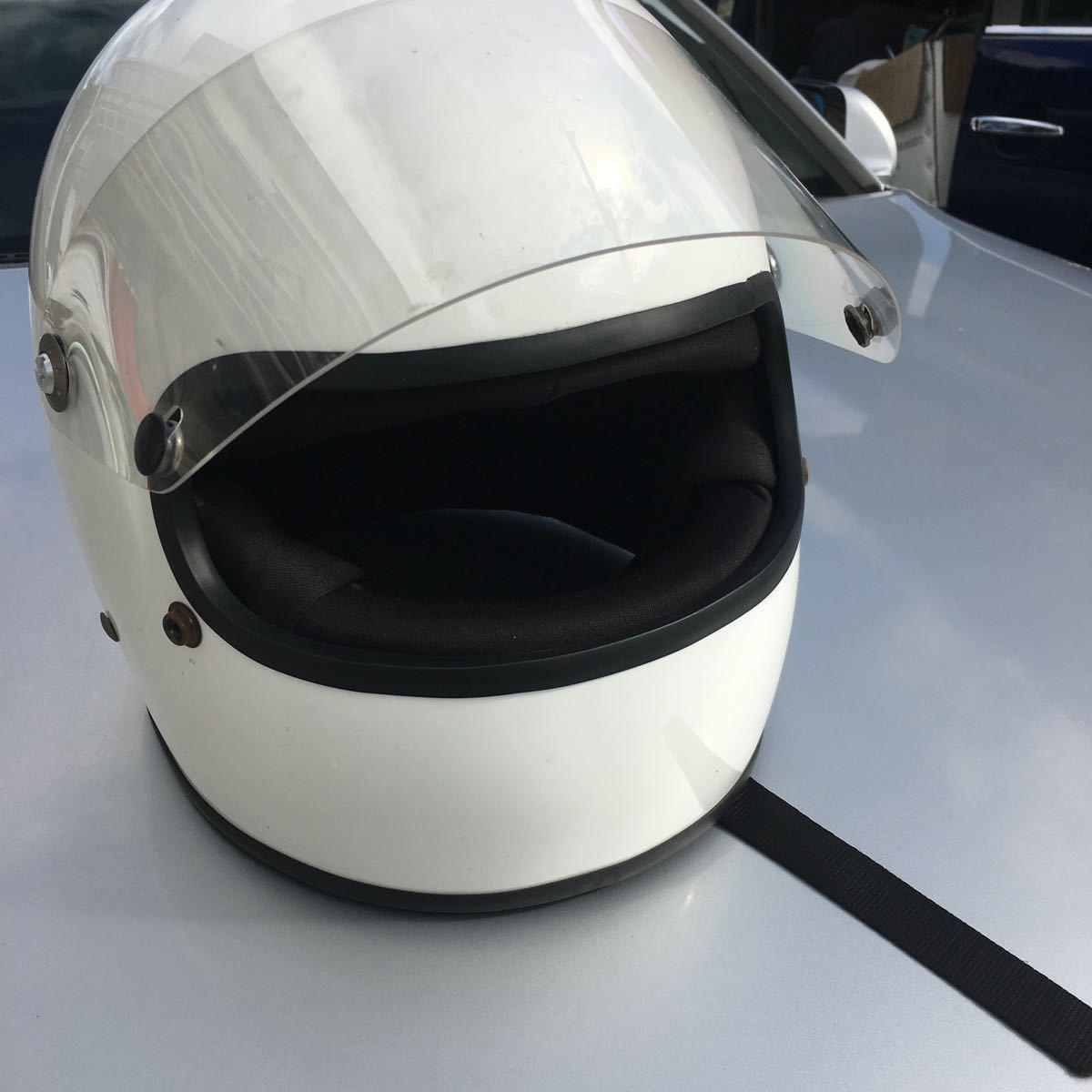 族ヘル 使用回数少 フルヘェイス ヘルメット / 初期 型 マッハ にて使用 / サイズは極端に小さく無いのでフリーサイズかな?_画像5