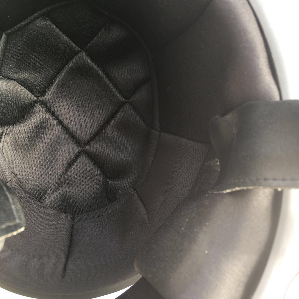 族ヘル 使用回数少 フルヘェイス ヘルメット / 初期 型 マッハ にて使用 / サイズは極端に小さく無いのでフリーサイズかな?_画像6