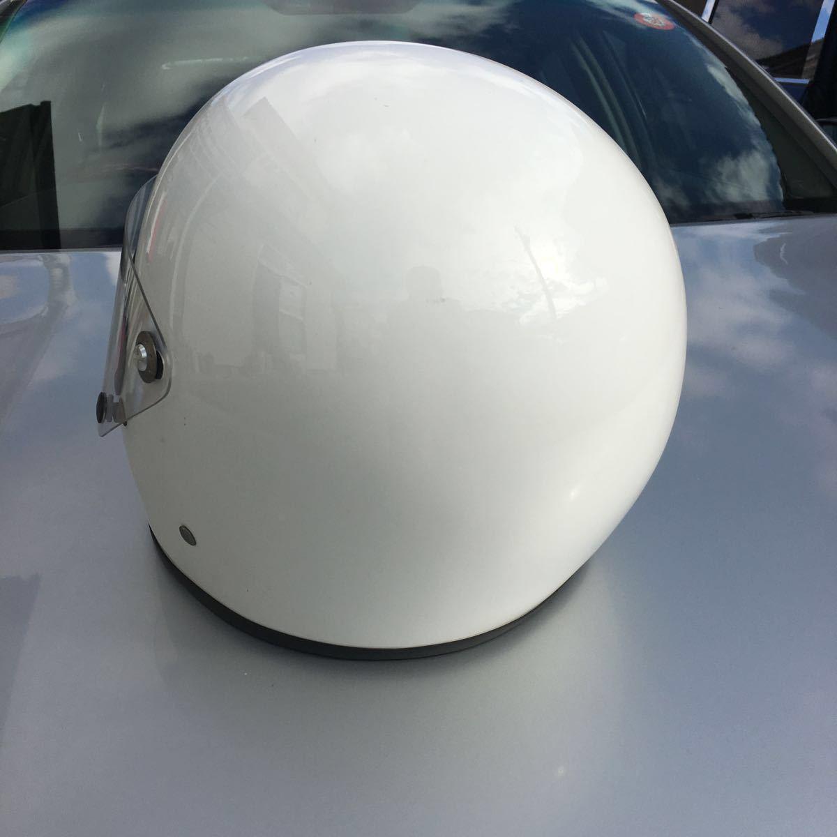 族ヘル 使用回数少 フルヘェイス ヘルメット / 初期 型 マッハ にて使用 / サイズは極端に小さく無いのでフリーサイズかな?_画像3