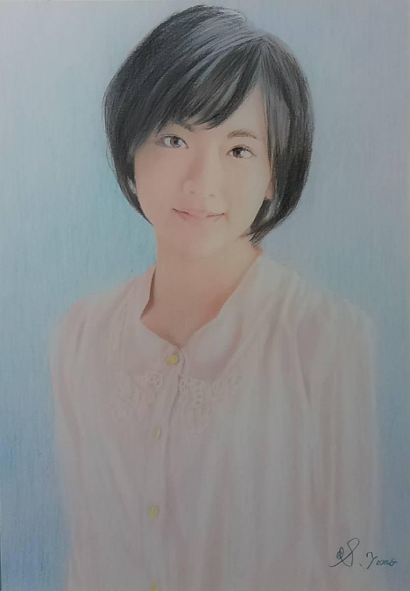 『作品639』S.Tomo氏直筆色鉛筆画 超美品 美人画 新品額装 値下げ交渉OK