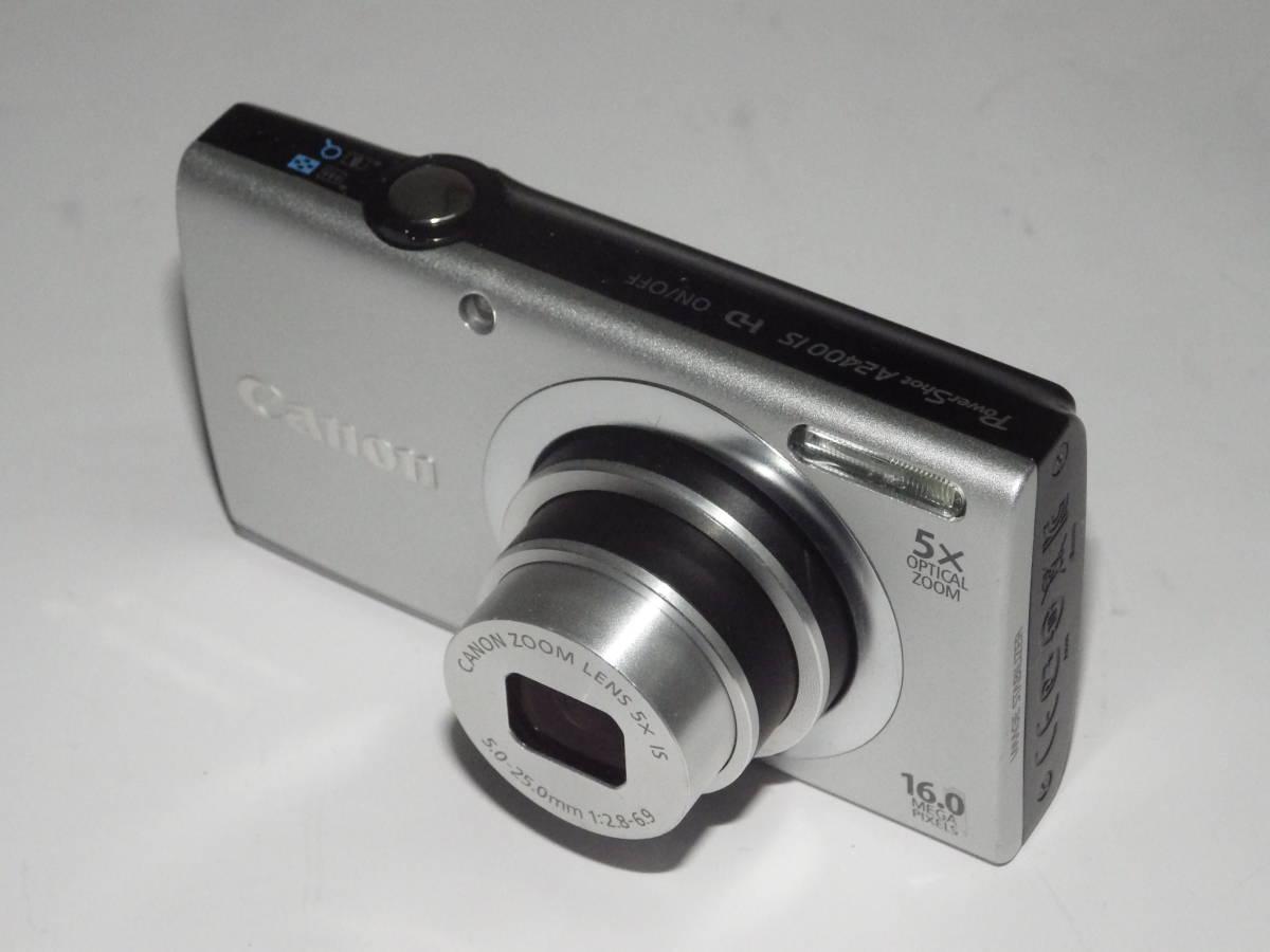 ▼美品 Canon キヤノン Power Shot A2400 is 銀◆1600万画素◆光学5倍ズーム◆動作確認済▼