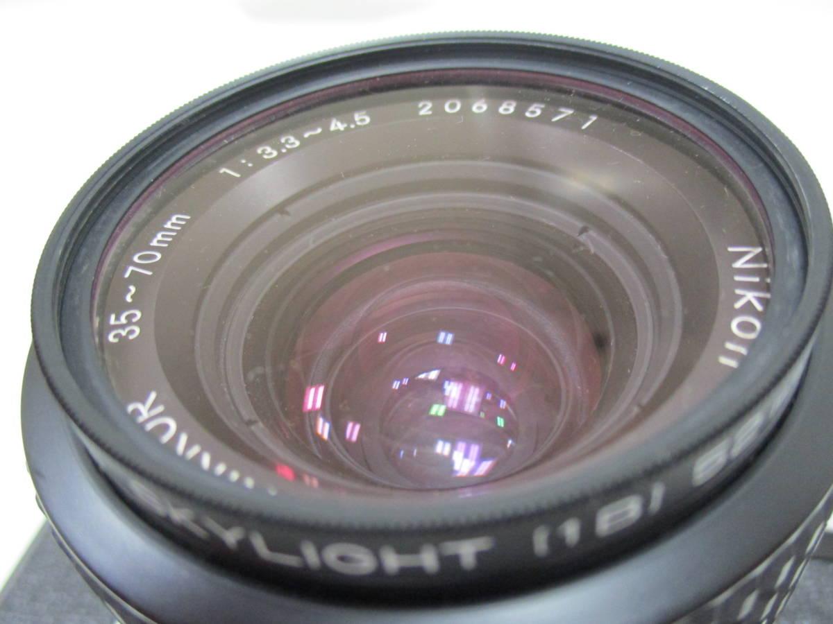 【7653】NIKON F ボディ ZOOM NIKKOR 35mm-70mm 1:3.3-4:5_画像8
