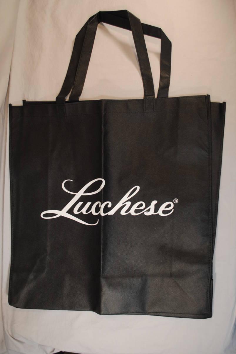 新品 ルケーシー ウエスタンブーツ 黒 不織布 Lucchese ロゴ付 トートバッグ ショッピングバッグ 50x50cm  マチ16.5cm