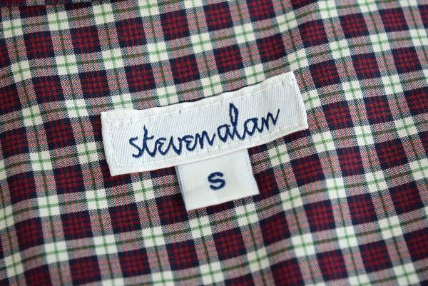 ★ 新品同様 Steven Alan アメリカ製 チェック柄 シャツワンピース S