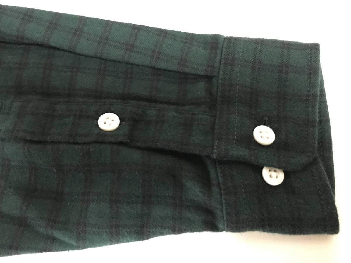 GU(ジーユー) - KIM JONES(キム・ジョーンズ) MEN フランネルチェックカラーブロックシャツ(KJ) L 緑 (即日完売大人気商品・新品未着用品)_画像5